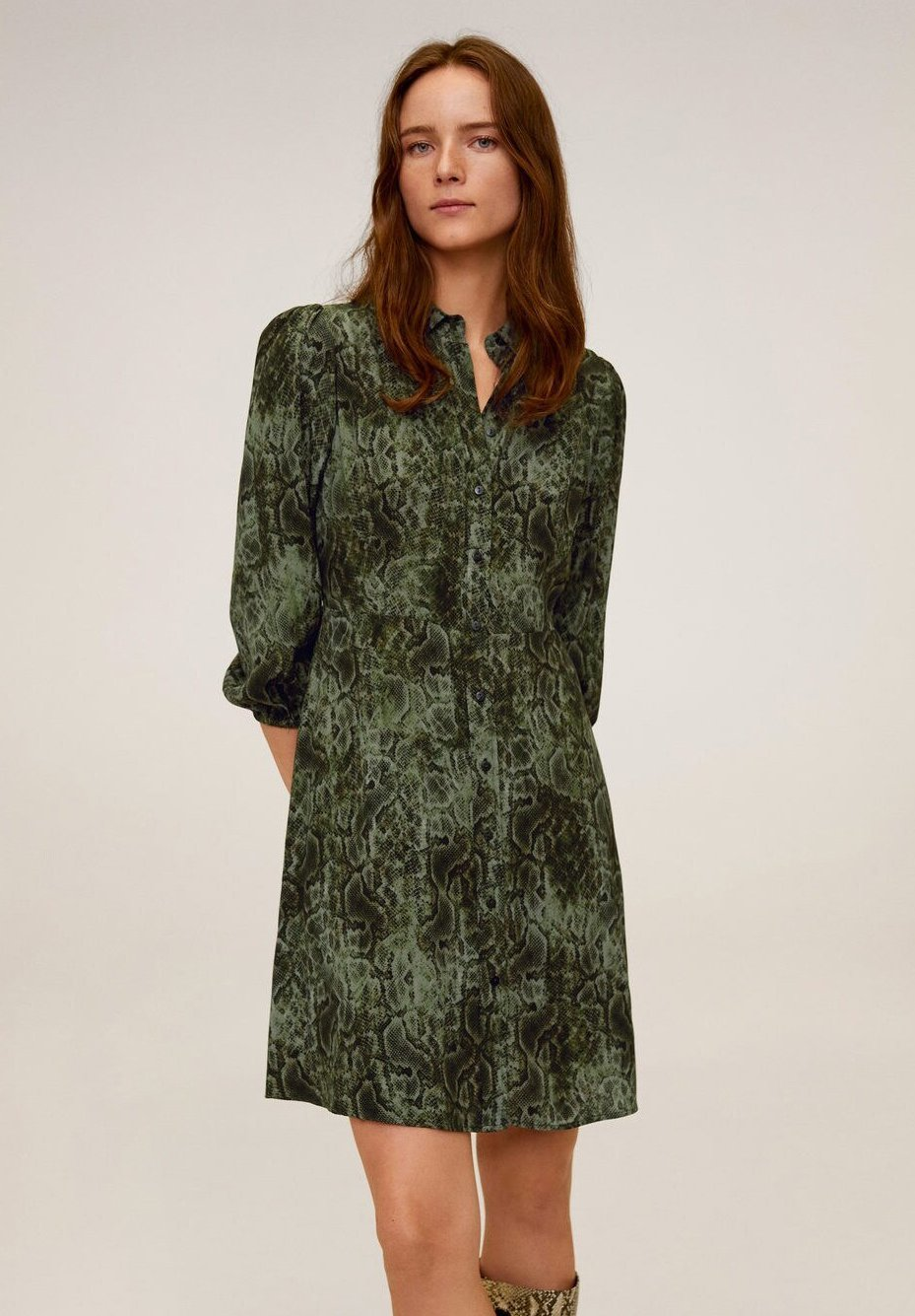Mango CASCABEL - Sukienka koszulowa - green