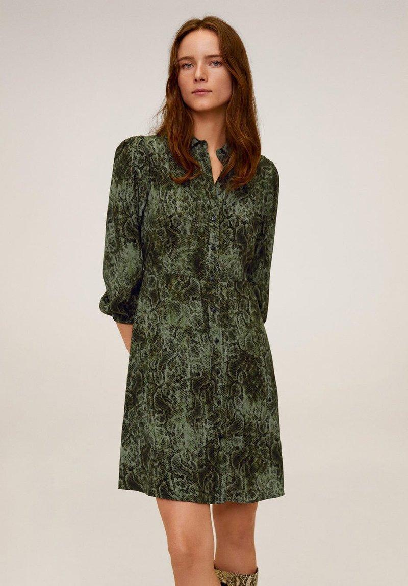 Mango - CASCABEL - Shirt dress - green