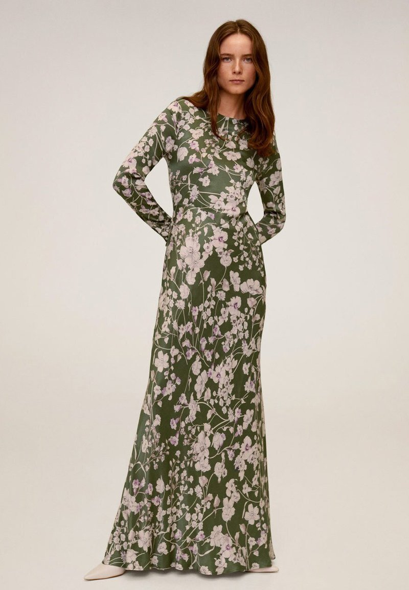 Mango - FLOWER - Maxi dress - green