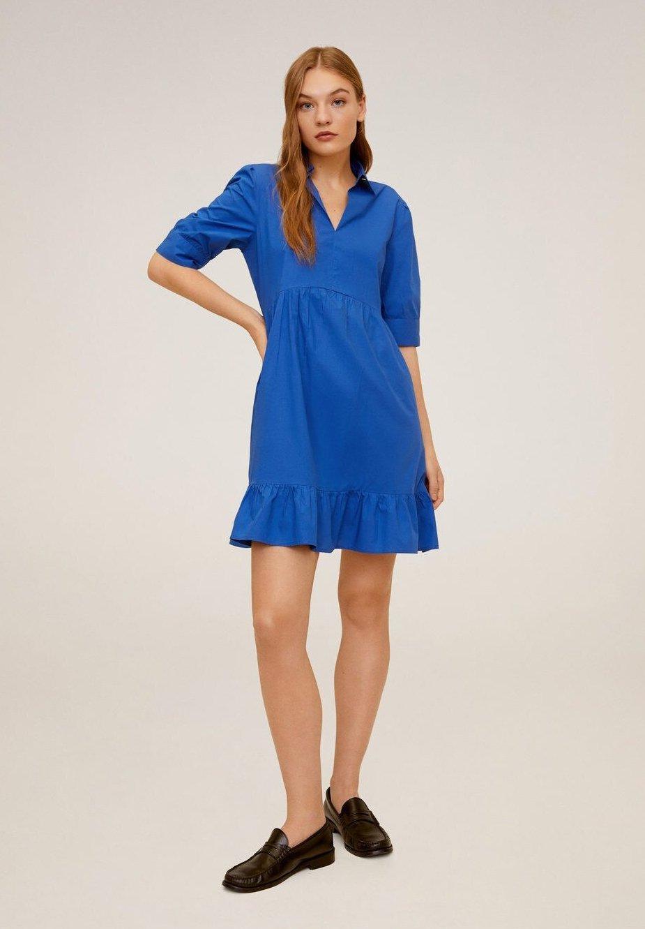 Mango LUCHA - Sukienka letnia - blau
