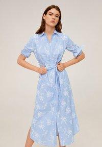 Mango - RAMON - Korte jurk - porzellanblau - 0
