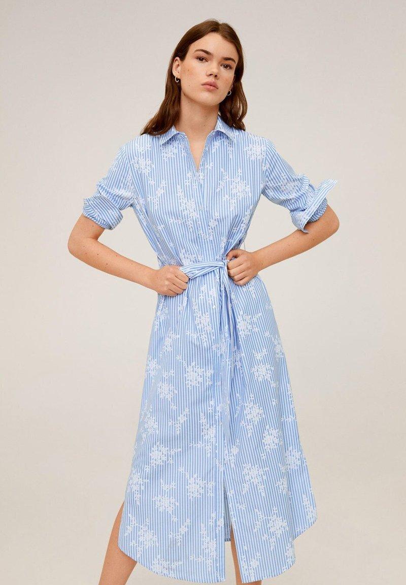 Mango - RAMON - Korte jurk - porzellanblau
