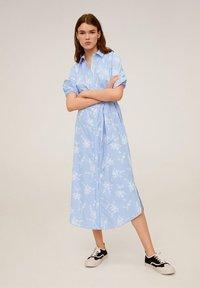 Mango - RAMON - Korte jurk - porzellanblau - 1