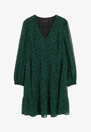 FLIESSENDES PRINT-KLEID - Day dress - grün