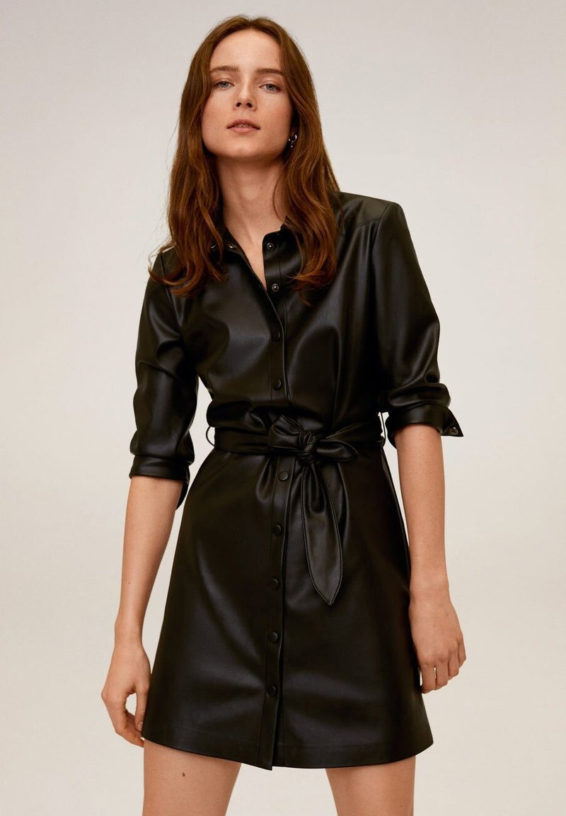 Mango - NATASHA - Sukienka koszulowa - schwarz