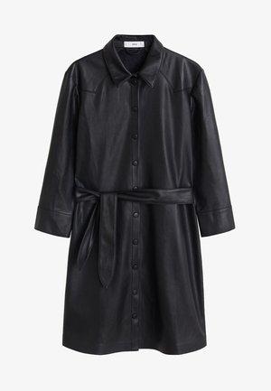 HEMDKLEID MIT TAILLENBAND - Blusenkleid - schwarz
