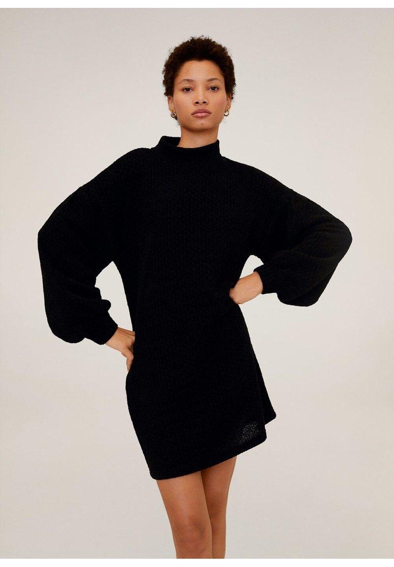 Mango - CHENIVES - Jumper dress - schwarz