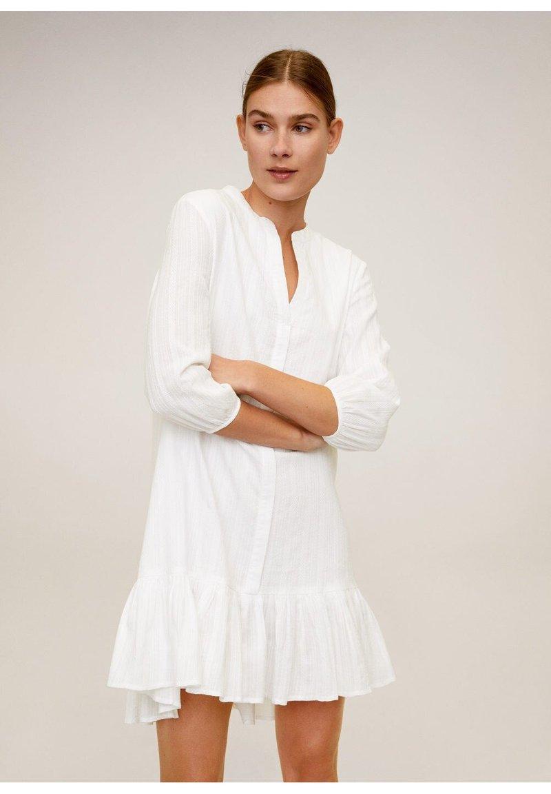 Mango - LACROSSE - Korte jurk - weiß