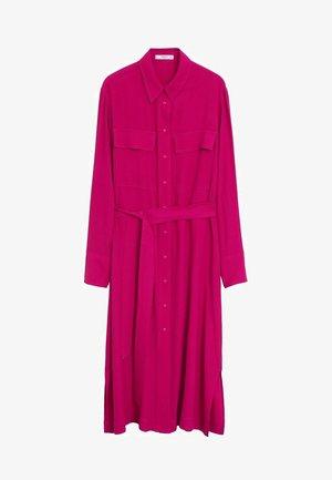 HEMDKLEID MIT TASCHEN - Robe chemise - fuchsia