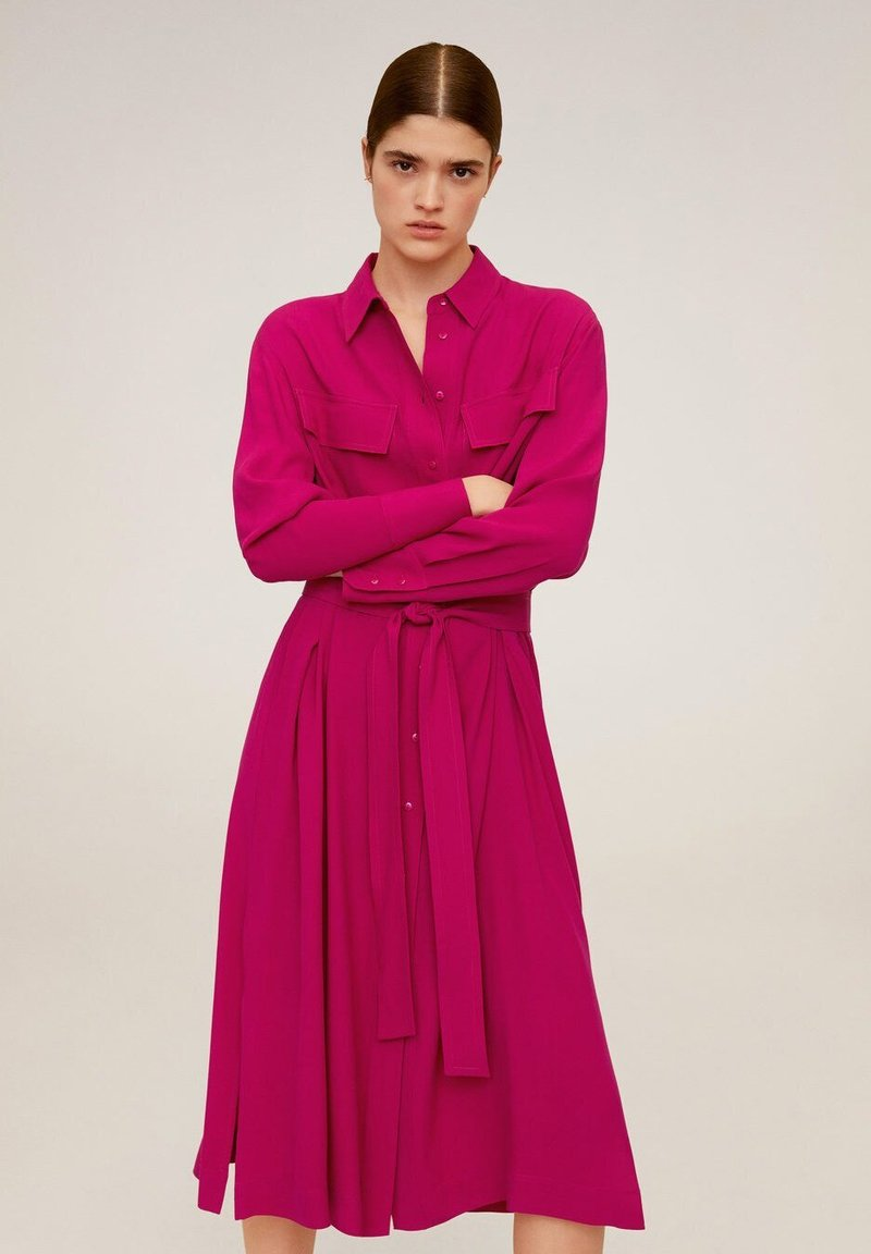 Mango - HEMDKLEID MIT TASCHEN - Robe chemise - fuchsia