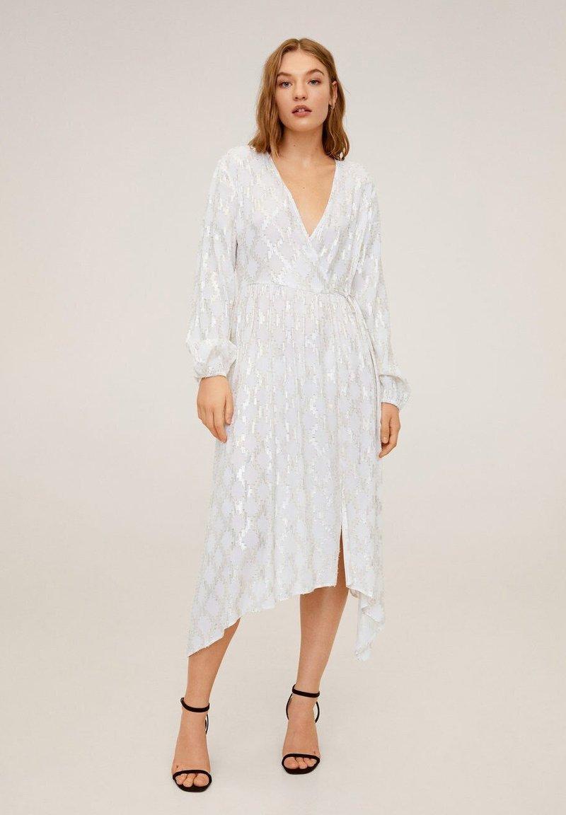 Mango - QUINO - Korte jurk - weiß