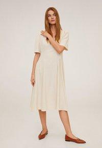 Mango - SOPHIE - Korte jurk - beige - 1