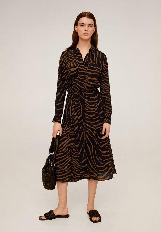 TIGER - Shirt dress - schwarz