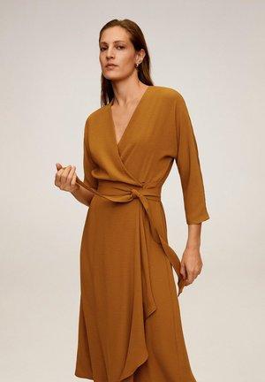 OLIVIA - Korte jurk - senfgelb