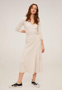 Mango - ZENIS - Gebreide jurk - beige - 0
