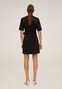 Mango - BORECUAD - Korte jurk - schwarz - 2