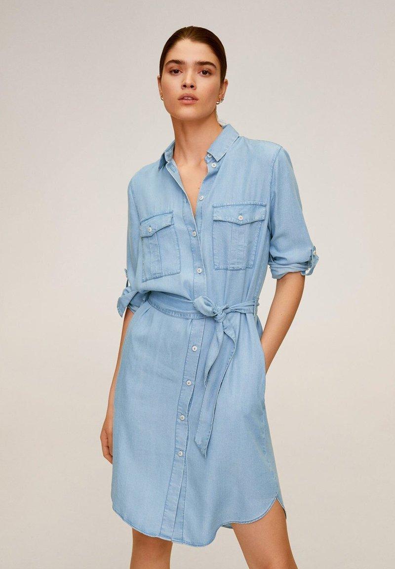 Mango - NEWSUSY - Sukienka jeansowa - mittelblau