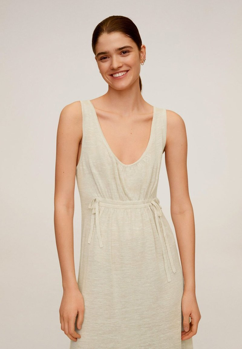 Mango - LINEN - Maxi dress - beige