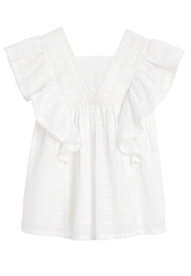 RAQUEL - Korte jurk - weiß
