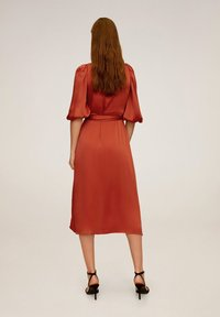 Mango - PUNTI - Day dress - korallrot - 1
