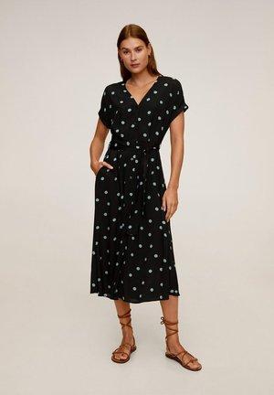 LUNARES - Korte jurk - dunkles marineblau