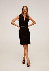 Mango - UNA - Korte jurk - schwarz - 1