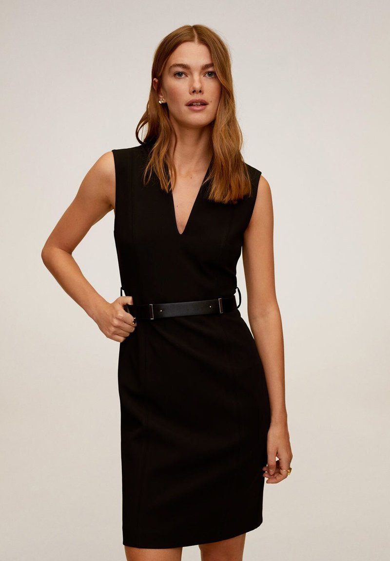 Mango - UNA - Korte jurk - schwarz