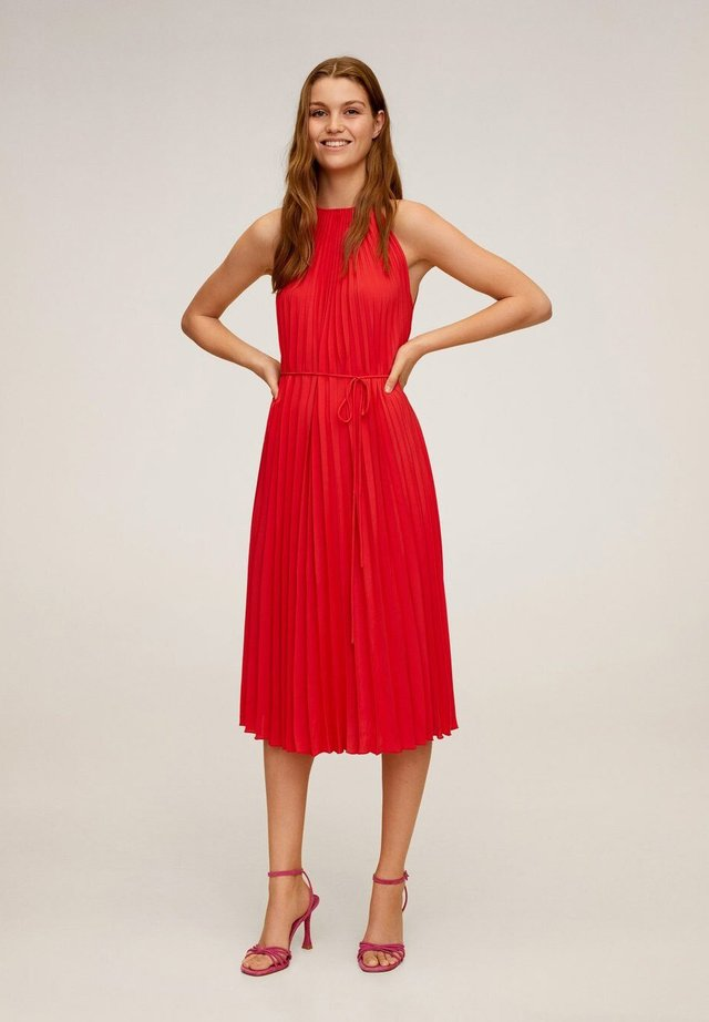 AGOSTO - Korte jurk - červená