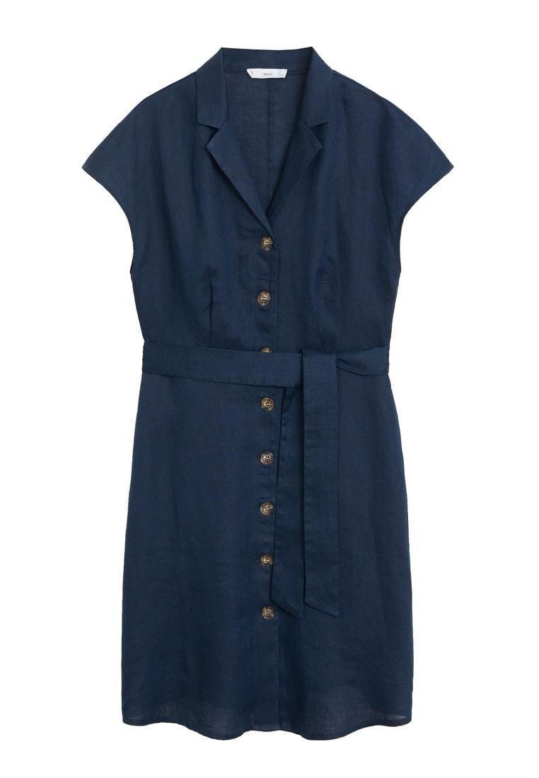 Mango - SAFARI - Sukienka koszulowa - dunkles marineblau
