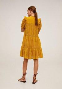 Mango - PASION - Day dress - senfgelb - 2
