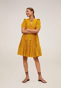Mango - PASION - Day dress - senfgelb - 1