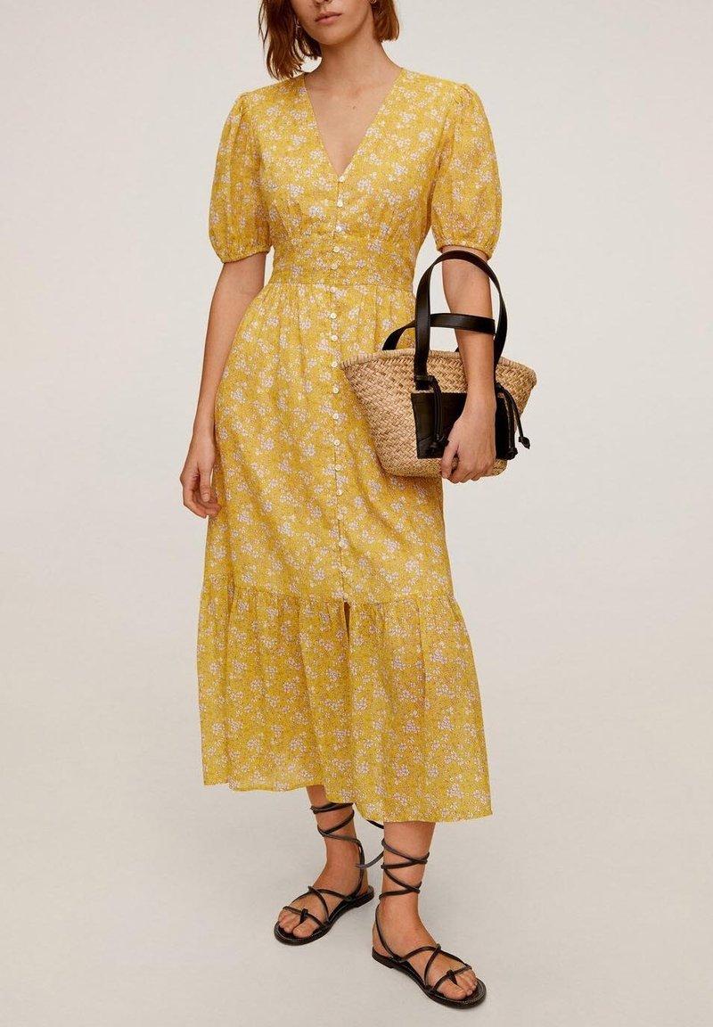 Mango - JUNGLE - Day dress - gelb
