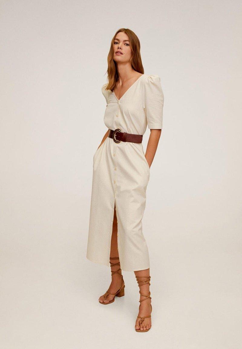 Mango - LANTAS - Korte jurk - beige
