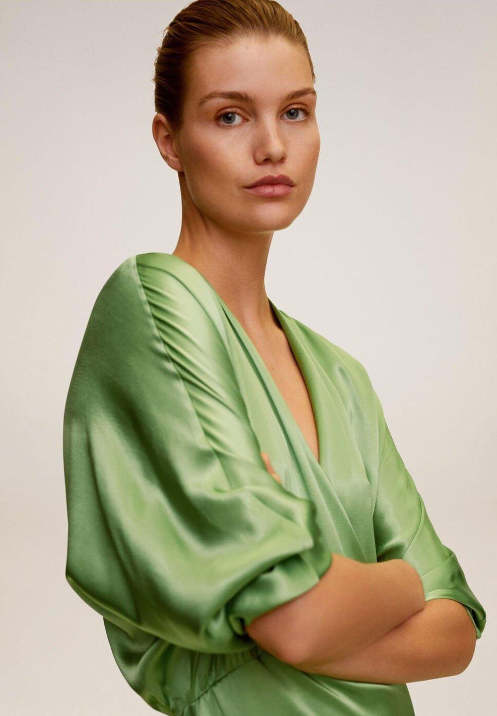 Mango MIRANDA-I - Vestito lungo - grün