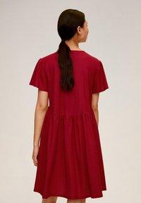 Mango - THALIA - Robe chemise - kersenrood - 2