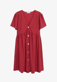Mango - THALIA - Robe chemise - kersenrood - 6
