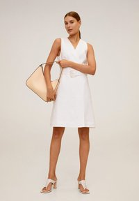 Mango - BORELI - Korte jurk - cremeweiß - 1