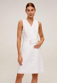 Mango - BORELI - Korte jurk - cremeweiß - 0