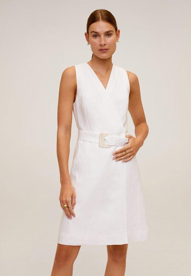 Mango - BORELI - Korte jurk - cremeweiß