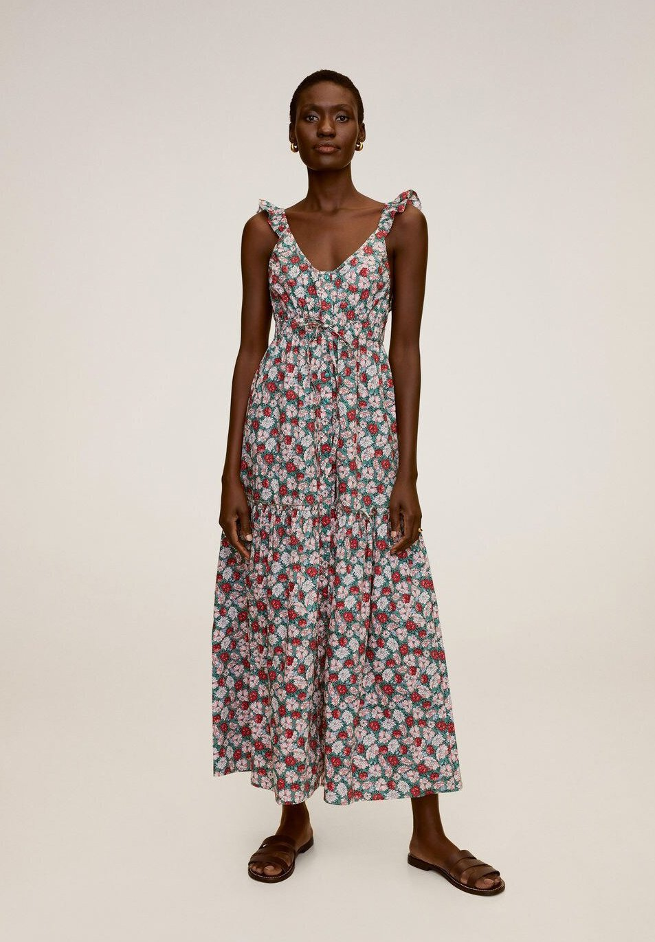 Mango GOA - Długa sukienka - rot
