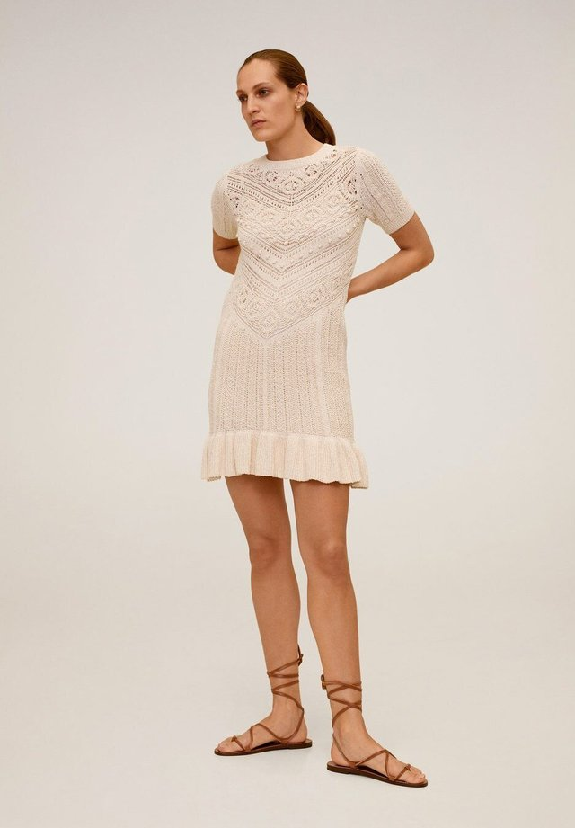 LOOP - Gebreide jurk - ecru