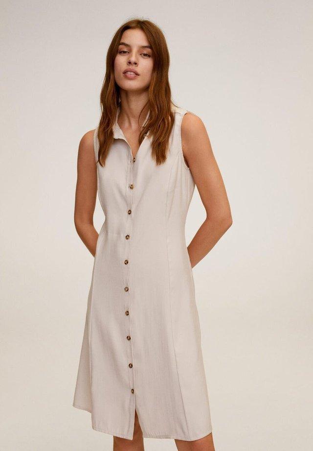 BOWIE - Robe chemise - hellgrau/pastellgrau