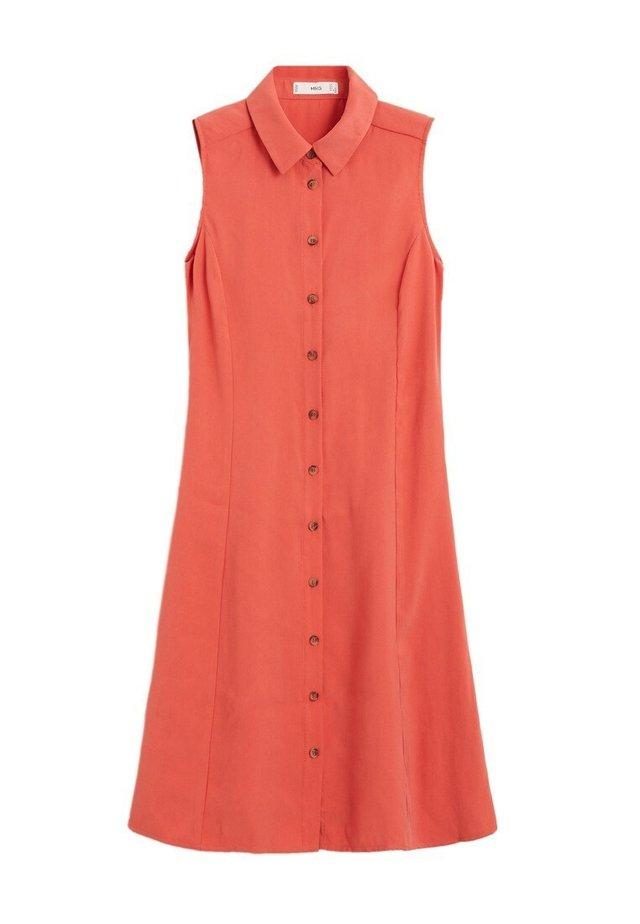 BOWIE - Robe chemise - korallrot