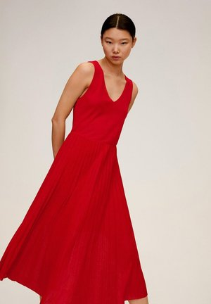 VERDI - Maxi dress - kirschrot