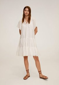 Mango - BOHOCHIC - Day dress - cremeweiß - 0