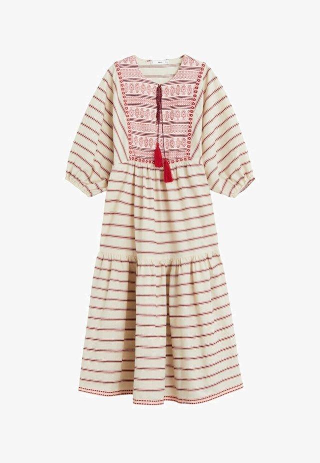 MAYA - Korte jurk - cremeweiß
