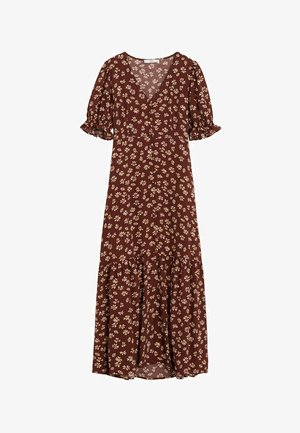 PAT - Korte jurk - schokolade