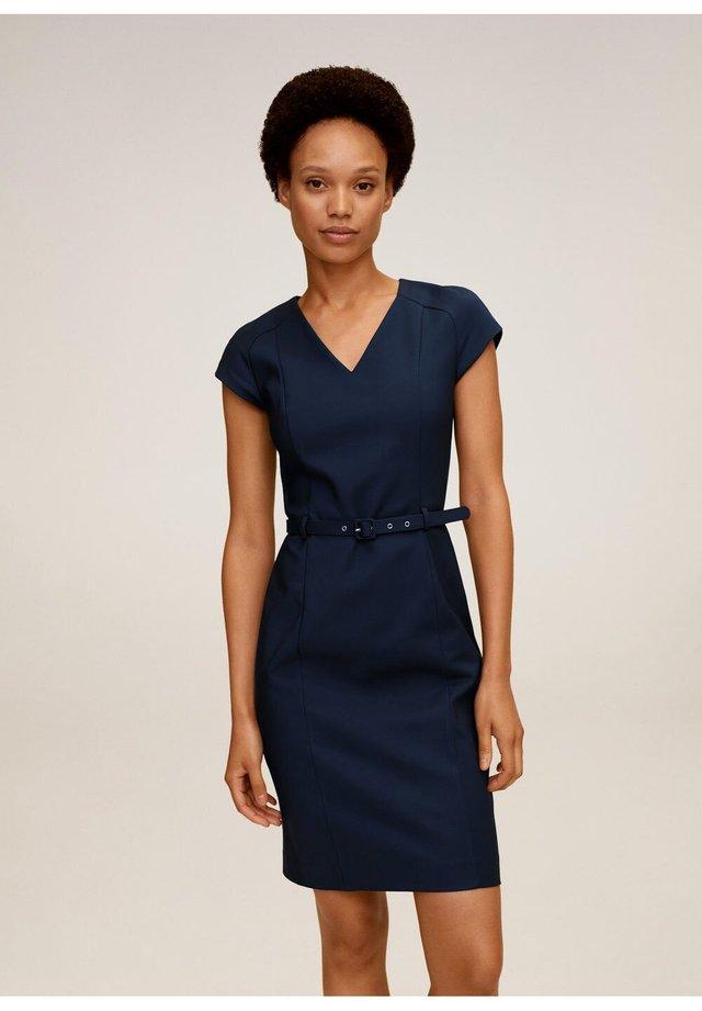 COFI7-N - Sukienka etui - marineblau