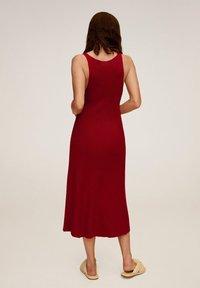 Mango - AMSTER - Jumper dress - rouge - 1