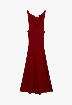 AMSTER - Gebreide jurk - rouge